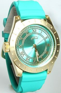 The Big Ben Watch with Interchangeable Bands in Teal-I think this is a guy watch, but I still love it Color Turquesa, Color Azul, Audemars Piguet, Fossil, Aqua, Teal, Cool Watches, Stylish Watches, Luxury Watches