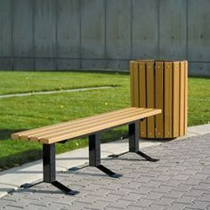 Recycled Plastic Lumber Surface Mount Backless Park Bench - 6 ft