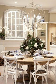 Formal Dining Room Table and Chairs . formal Dining Room Table and Chairs . Dining Room Walls, Dining Room Sets, Dining Room Design, Dining Chairs, Hamptons Decor, The Hamptons, Decoration Table, Layout Design, Design Ideas