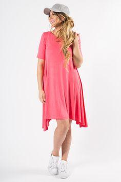 Joplin Dress Coral Bright  #valentinesday #agnesanddora
