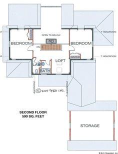 Lakewood Timber Frame Second Floor Plan
