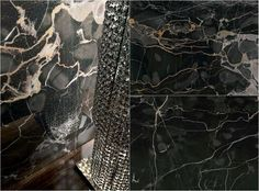 Wandpaneele aus poliertem Feinsteinzeug - Nero Portoro