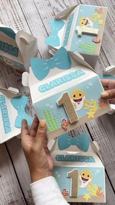 Baby Girl Birthday Theme, 2nd Birthday Party Themes, Girl Birthday Decorations, Gable Boxes, Shark Party, Party In A Box, Baby Shark, Cricut, Diy
