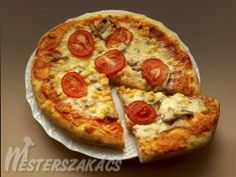 Eredeti olasz pizza recept Taco Pizza, How To Make Bread, Pepperoni, Vegetable Pizza, Cookie Recipes, Hamburger, Bacon, Food And Drink, Desserts