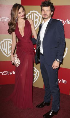 Best couple: Miranda Kerr And Orlando Bloom At The Golden Globes InStyle And Warner Bros Party, 2013 | Look