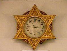 Clock in the Gerard Dou Synagogue, Amsterdam