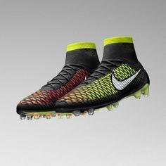 Men s Magista Obra Firm-Ground Soccer Cleats - Black Volt Hyper Punch Nike 9bc5ebced185b