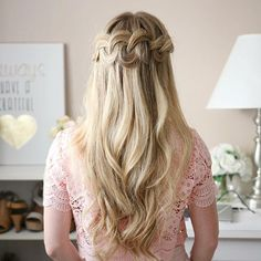 Looped Knot Braid  Learn this style by watching the tutorial linked in my bio! I extended it around the back and pulled out the edges quite a bit to make it fuller! #missysueblog