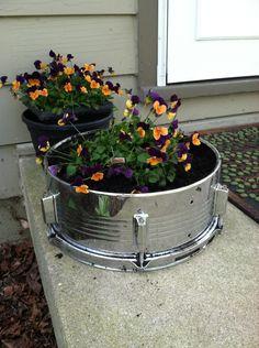 Snare Drum Planter