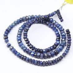 Blue Sapphire Faceted Rondelle Beadss – Jewels Exports