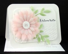 Vellum Flower by Rox71 - Cards and Paper Crafts at Splitcoaststampers
