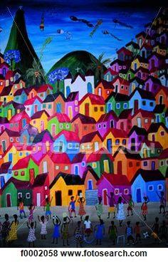 Brazilie. Naieve schilderkunst.
