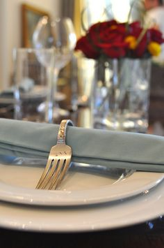 Vintage Fork Napkin Rings Tutorial - perfect for your next Dinner Party