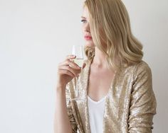 Gold sequin Jacket  Long sleeves sequin jacket  by BLUSHFASHION