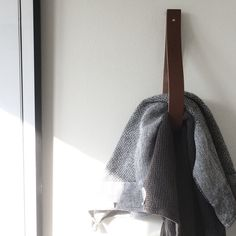 STRAP BY M/CLAHR                  - Strap / 3 x Brown - Organic Leather Hangers