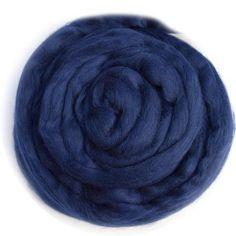 Merino Wool Tops Extrafine DHG - Tuareg Blue | Shop Wool Online #roving #felting #spinning #merino #needlefelting Nuno Felting, Needle Felting, Drop Spindle, Wool Felt, Spinning, Merino Wool, Dark Blue, Weaving, Vibrant
