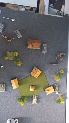 Playing field is typical size of dinner table with some hand made houses, trees, etc. Scenario of Soviet village. Tank War, Dinner Table, Scale, Trees, Houses, Paper, Handmade, Dinning Table, Weighing Scale