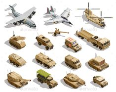 Illustration about Army transport isometric icons collection with cargo aircraft helicopter fleet fighter tanks military vehicles isolated vector illustration. Illustration of isometric, automobile, conflict - 106380414 Military Weapons, Military Army, Army Men, Cargo Aircraft, 8bit Art, Isometric Art, Army Vehicles, Weapon Concept Art, Icon Collection