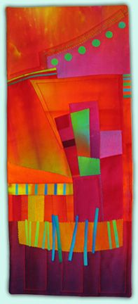 "Melody Johnson art quilt ""Metropole""...sometimes it's about the color."