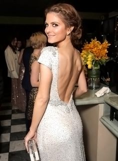 """MARIA MENOUNOS had her Oscars look approved by none other than her father. """"My parents pretty much live with me and my Dad always wants hair approval,"""" says Menounos (in Johanna Johnson). """"For my dad to give me the stamp of approval is always great."""""""