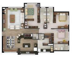 House Layout Plans, Family House Plans, Bedroom House Plans, Country House Plans, Dream House Plans, Modern House Plans, Small House Plans, House Layouts, House Floor Plans