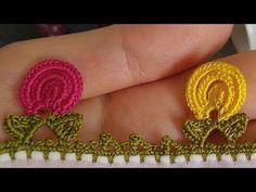 YouTube Saree Tassels Designs, Saree Kuchu Designs, Crochet Borders, Crochet Stitches, Creative Embroidery, Needle Lace, Irish Lace, Irish Crochet, Crochet Flowers