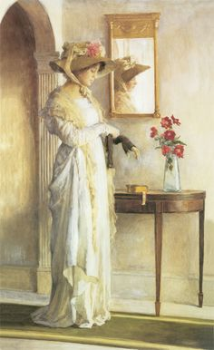 """""""A Moment's Reflection"""" by William Henry Margetson"""