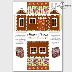 Tästä joulukortista syntyy kartonkinen piparkakkutalo. Askartelukortti, joka on enemmän kuin vain kortti!