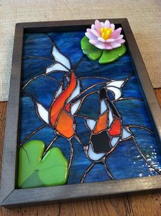 Koi Fish - from Delphi Artist Gallery Stained Glass Flowers, Faux Stained Glass, Stained Glass Designs, Mosaic Crafts, Mosaic Projects, Stained Glass Projects, Stained Glass Patterns, Mosaic Art, Mosaic Glass