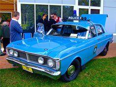 """Historic"" Australian Police cars, 1971 Ford XY Falcon Standard Sedan. v@e."