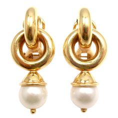 1stdibs - ELIZABETH LOCKE Pearl Yellow Gold Earrings explore items from 1,700  global dealers at 1stdibs.com