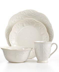 Lenox Dinnerware, French Perle White Collection - Dinnerware - Dining & Entertaining - Macy's