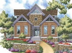 Contemporary-Modern House Plan with 1794 Square Feet and 2 Bedrooms from Dream Home Source | House Plan Code DHSW17097