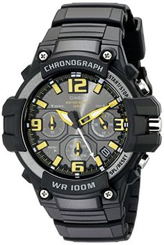 Men's Wrist Watches - Casio Mens MCW100H9AVCF Heavy DutyDesign Chronograph Black Watch -- Be sure to check out this awesome product. (This is an Amazon affiliate link)