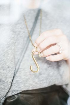 "Lulu Frost Plaza ""S"" Necklace"