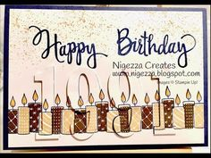 Stampin Up Merry Patterns Birthday Eclipse Card - YouTube
