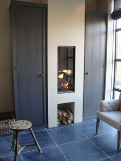 nice small fireplace for the kitchen