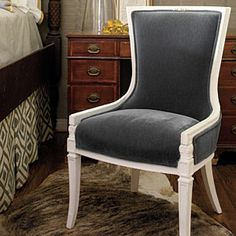 Guest Room Redo | Antique Chair: After | SouthernLiving.com