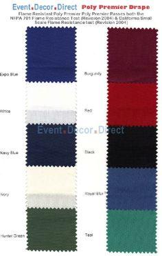 Poly Premier Cloth Drape Panel w/ Sewn Rod Pocket - 8ft