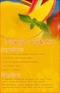 Mango Madness Recipe Pictures, Photos, and Images for Facebook, Tumblr, Pinterest, and Twitter
