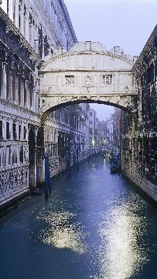 kiss your sweetheart under this 17th-century bridge at sunset, and your love will endure forever.  Venice