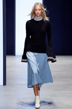 Derek Lam Spring 2016 Ready-to-Wear Fashion Show.... novelty knits..... bell sleeve