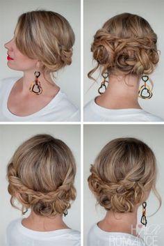 Hair Romance - 30 braids 30 days - 24 - the Messy Braided Upstyle