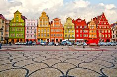 Wroclaw, Poland - no joke - the facades are that colorful, and wonderful...