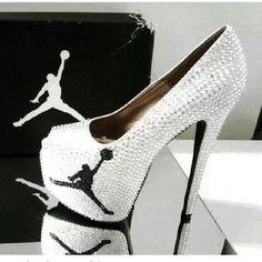 So I have allot of Jordan shoes but not Jordan heels. Cute Heels, Sexy Heels, Sparkly Heels, Crazy Shoes, Me Too Shoes, Dream Shoes, Peep Toe Heels, Shoes Heels, Swag Shoes