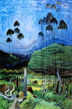 Emily Carr Trees in the Sky 1939