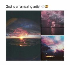 Every time an artist dies, god lets them paint the sky << can't wait, I'mma draw dicks Amazing Nature, Amazing Art, Awesome, Pretty Pictures, Cool Photos, Photo Trop Belle, Amazing Photography, Nature Photography, Beautiful World
