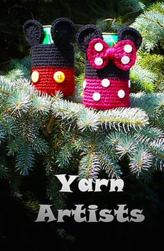 [Free Crochet Pattern] These Cool Mickey and Minnie Mouse Inspired Can Cozies Will Bring Disney World Into Your House!