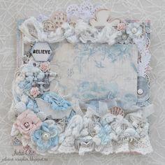 """Julia Ost handmade: Третий этап проекта""""La Femme"""" - """"L'amour""""- у меня немного морской)"""