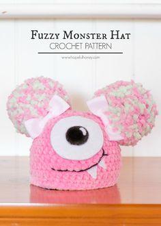 Newborn Fuzzy Monster Hat - Free Crochet Pattern